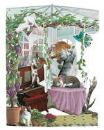 Santoro Swing Cards Conservatory Cats