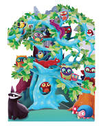 Santoro Swing Cards Tree Of Birds