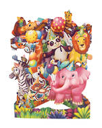 Santoro Swing Cards Animal Party