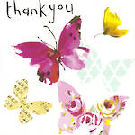Thank You Card Sooshichacha Butterflies