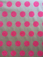 Folded Wrap Female Fluoro Pink Glitter Dots