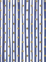 Folded Wrap Painterly Lines Navy