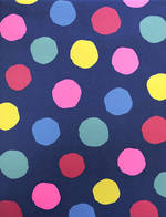 Folded Wrap Party Dots On Navy