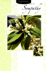 Sympathy Card Lily Of The Valley