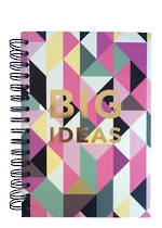 Tri-Coastal Design Night Floral Geometric Spiral Journal