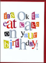 Birthday Card: A Word Or Two Its Ok To Eat