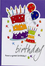 Female Birthday Card: Sparklers Cake