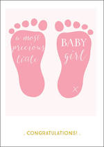 Baby Card Girl Ink Precious Feet