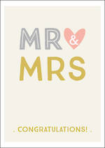 Wedding Card Ink Mr & Mrs Congrats