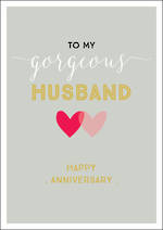 Anniversary Card Husband Ink Gorgeous Husband