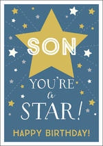 Son Birthday Card Ink You're a Star