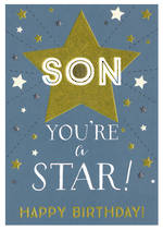 Son Birthday Card: Ink You're A Star