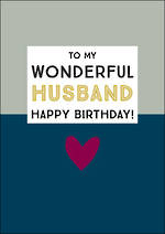 Husband Birthday Card Ink Wonderful Heart