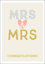Same Sex Wedding Card Ink Mrs & Mrs
