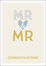 Same Sex Wedding Card Ink Mr & Mr