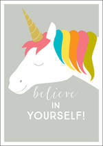 Encouragement Card Ink Unicorn