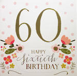Age Card 60 Female Rosetta Birthday