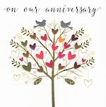 Anniversary Card Our Rosetta Birds In Tree