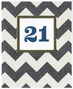 Birthday Age Card 21 Male Sasparilla Zigzag