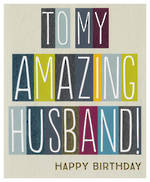 Husband Birthday Card Sasparilla Amazing