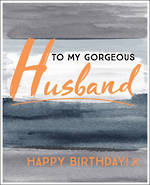 Husband Birthday Card Sasparilla Stripes