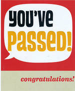 Congratulations Card Sasparilla Passed Exams