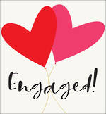Engagement Card Sunrise Heart Balloon