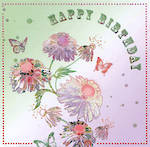 Female Birthday Card: Portobella Wild Daisies