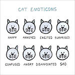 Wrong Hands: Cat Emoticons