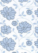 Sheet Wrap Floral Silver On White