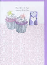 Female Birthday Card: Alfresco Cupcakes