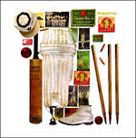 Blank Card: Museo Square - Vintage Cricket
