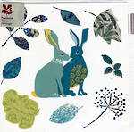 Blank Card: Nat Trust Square - Leaves & Rabbit
