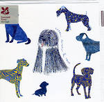 Blank Card: Nat Trust Square - Blue Dogs
