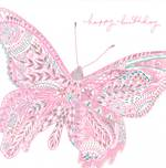 Pink Birthday Butterfly Pink
