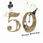 Age Card 50 General Birthday Festivities