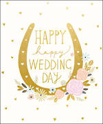 Wedding Card Large Peach & Prosecco