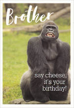 Brother Birthday Card Framed 5X7 Say Cheese