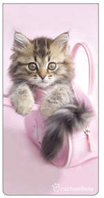 Magnetic Bookmark Hale Kitten In Bag