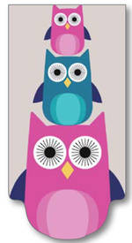 Magnetic Bookmark Diecut Owls