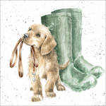 Wrendale Country Set Puppy & Gumboots
