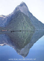 Pure NZ Shapes of New Zealand Mitre Peak Milford Sound