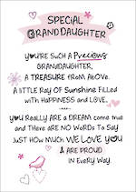 Grandaughter Birthday Card Inspired Words