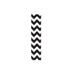 Roll Wrap Chevron Black 3m