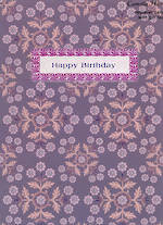 Female Birthday Card: Pinafore Laura-Lee