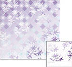 Blank Card: Origami - Diamond Check Purple