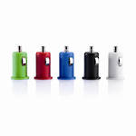 Micro Car USB Charger: Lime