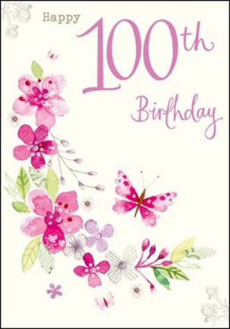 Age Card 100 Female Birthday Tallulah Rose