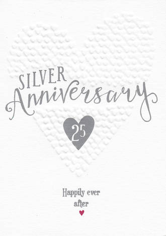 Anniversary Card 25th Silver: Ever After