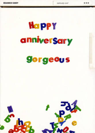 Anniversary Card: Well Cool Gorgeous
